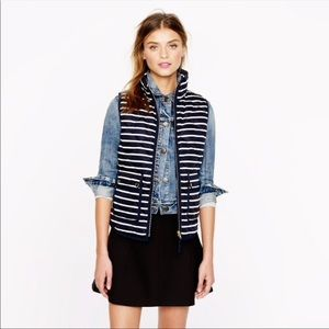 J.Crew Excursion Quilted Puffer Vest in Stripes